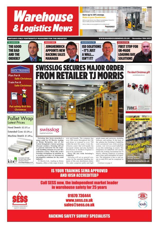 Warehouse News November 15th 2013