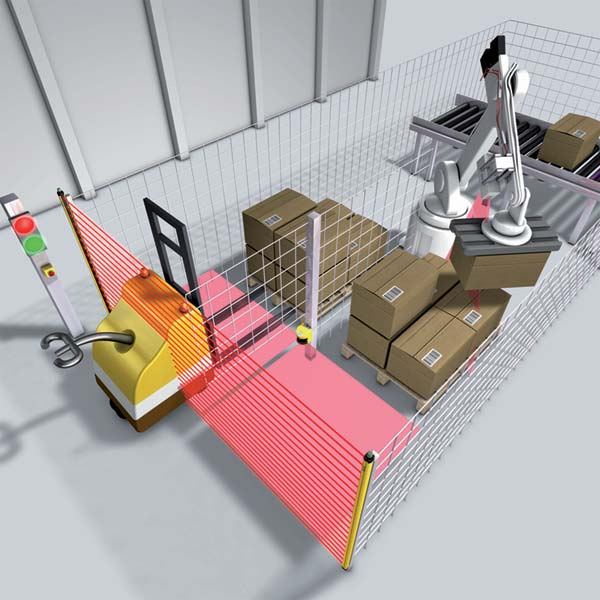 New Fork Lift Truck Detection Capability For Sicks M4000 Safety Light Curtains