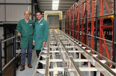 Left to Right: George Page (Production Director) and David Wilson (Operations Manager) with the new central conveying system.