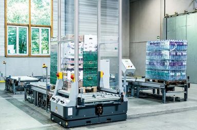 KNAPP's free-roaming Open Shuttles can transport pallets weighing up to 1300kg.