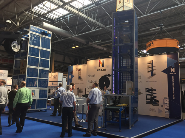 An operating pallet lift and box lifter drew the interest of visitors on Nerak Wiese's stand at IMHX