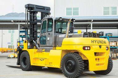 Hyundai expand its forklift range