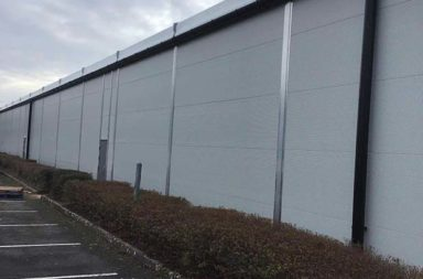 Car seat manufacturer gains over 10,000 sq ft of on-site warehousing with 65 metre long temporary building